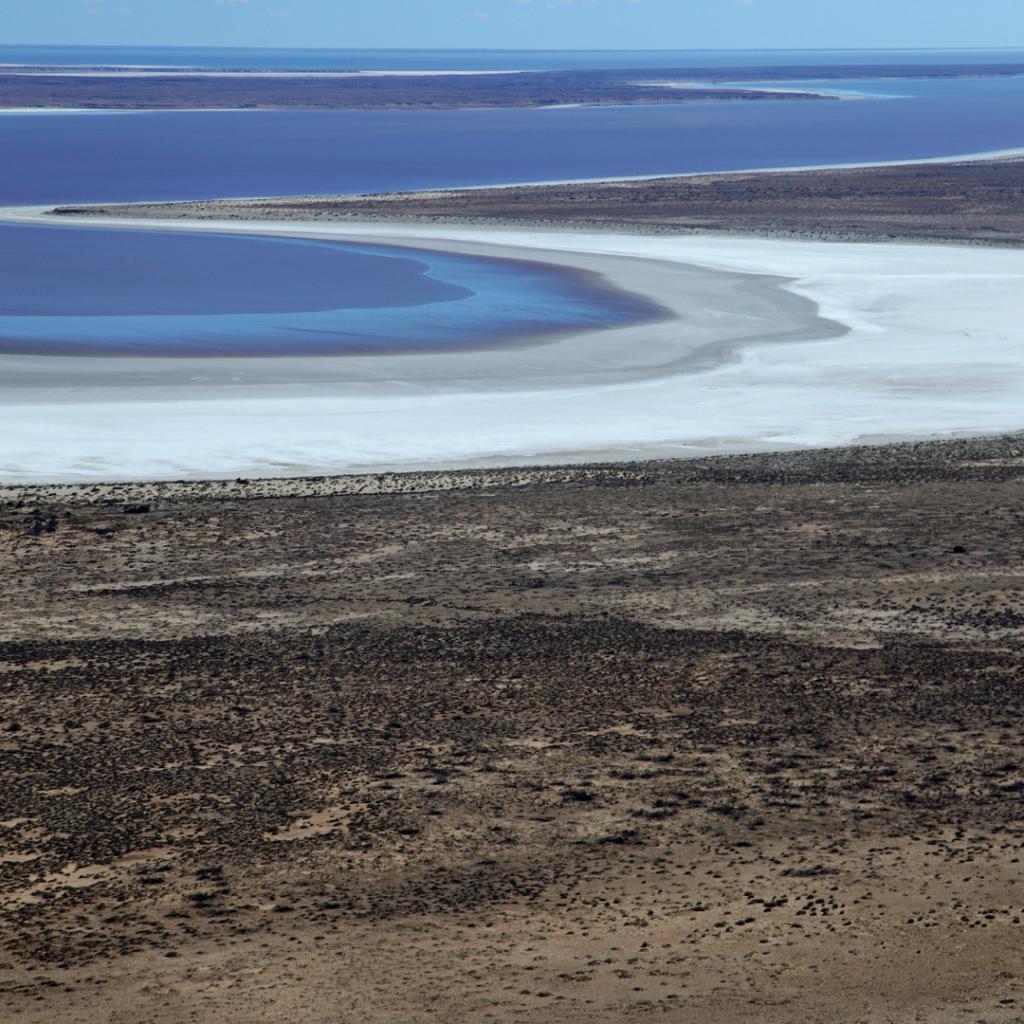 Lake Eyre in Australia